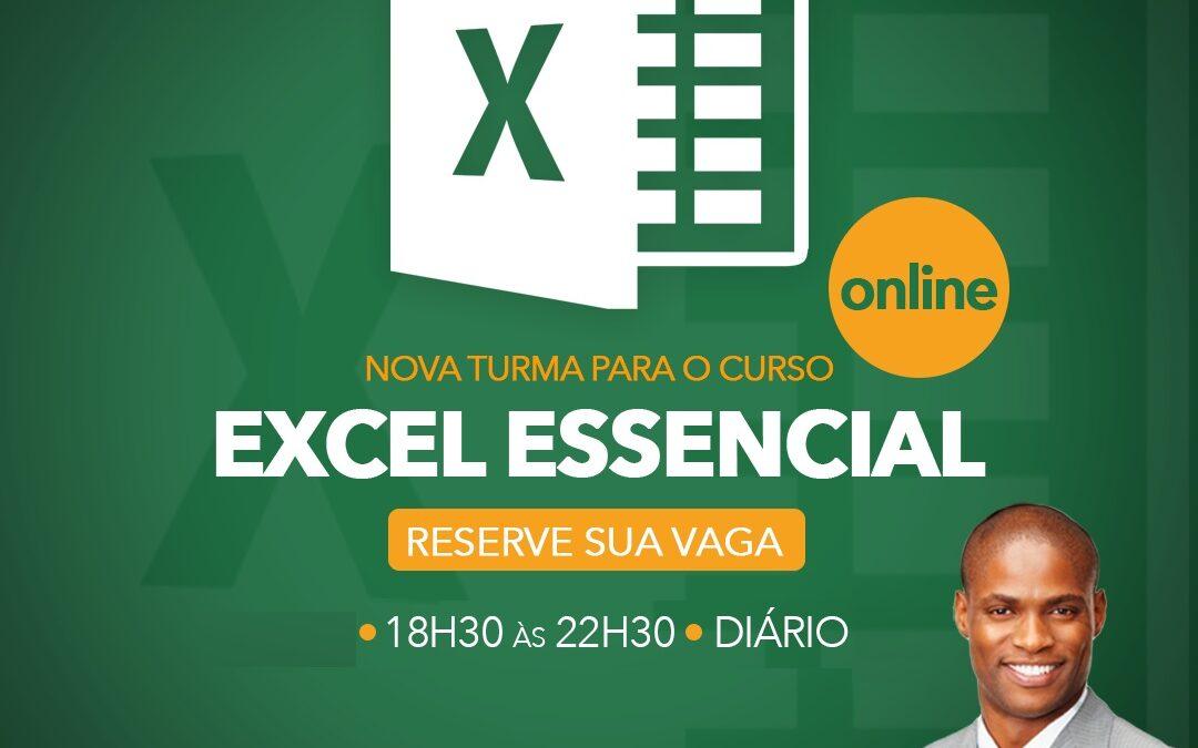 Excel Essencial ONLINE – 18:30 às 22:30h – Inicio: 26/04/2021