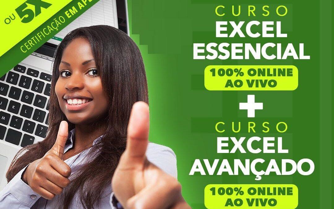 COMBO ONLINE – Excel Essencial 20h (31/05) + Excel Avançado 28h (09/06)