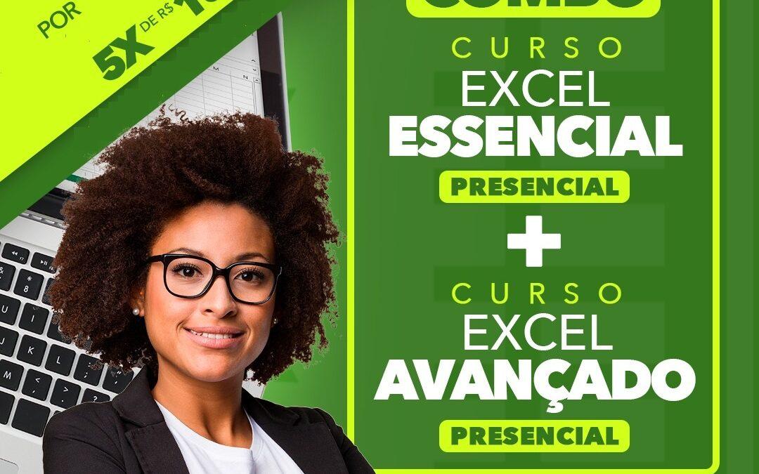 COMBO PRESENCIAL – Excel Essencial + Excel Avançado